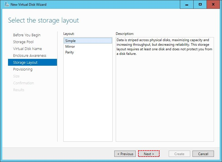 Select Storage Layout