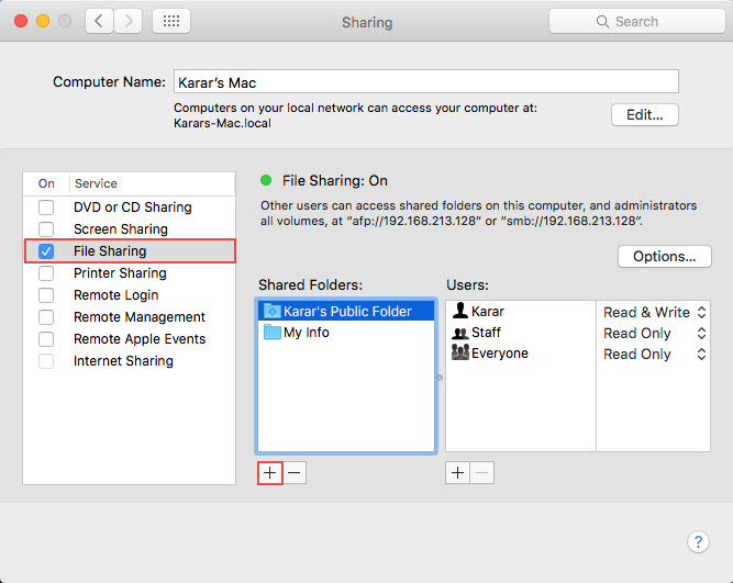 Sharing Folder