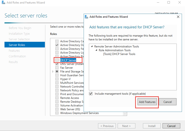 DHCP Server role