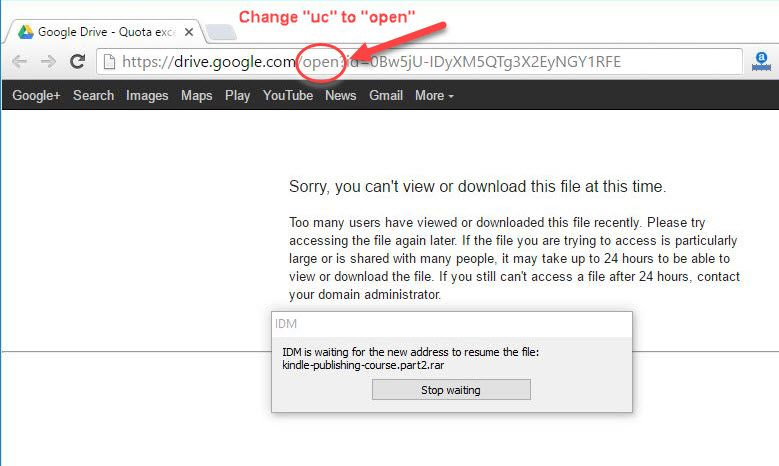 Google-Drive---Change-the-url