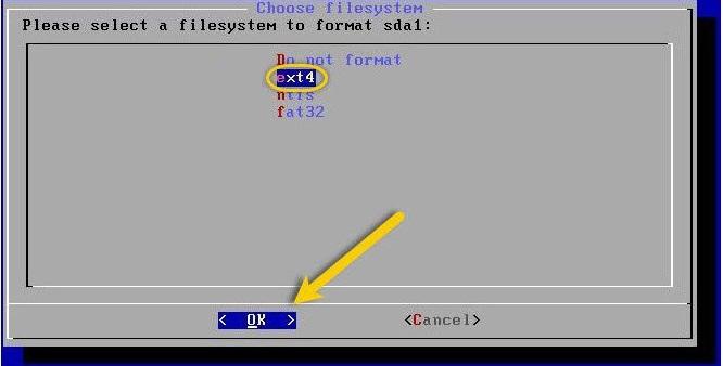 Choose Filesystem