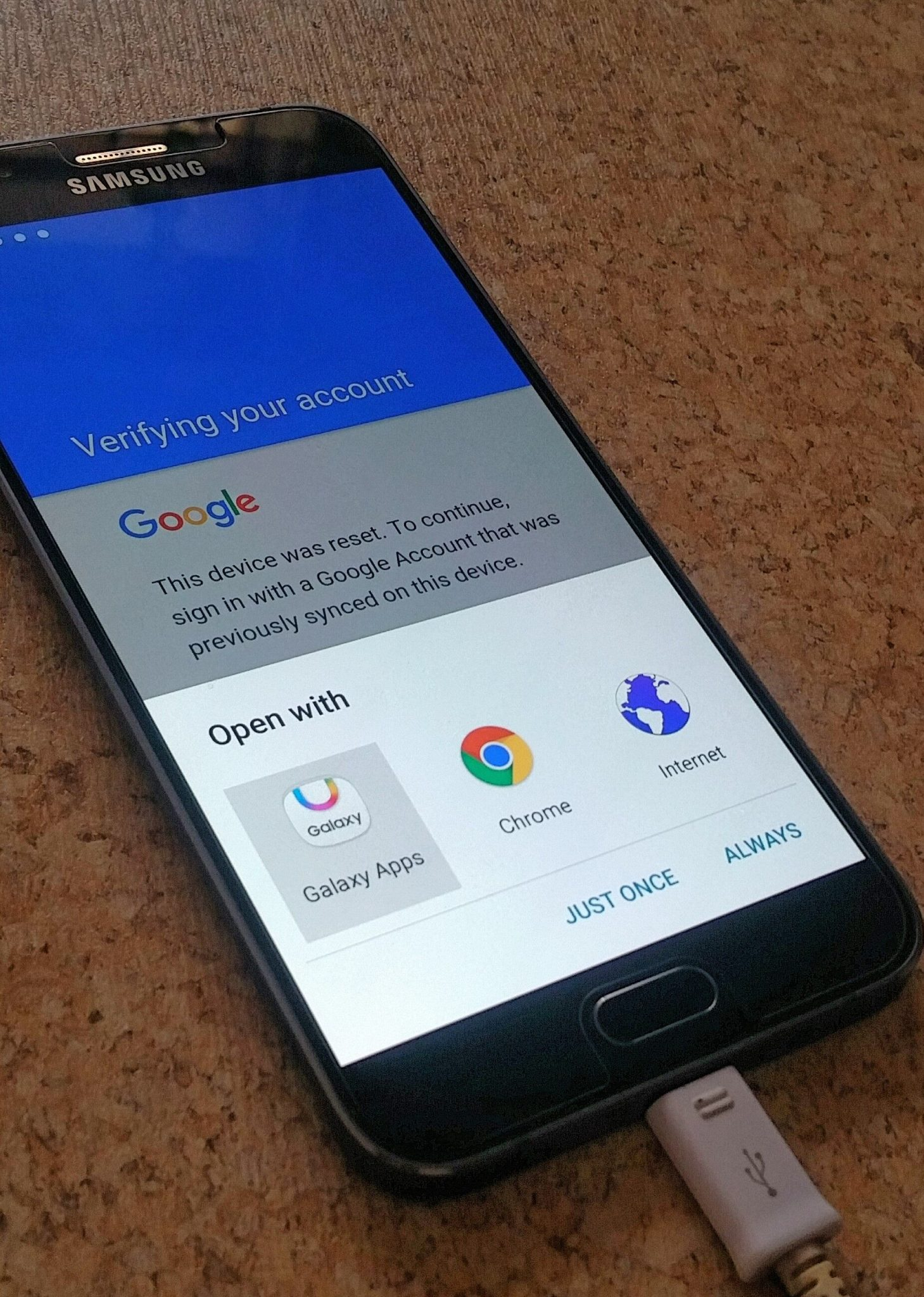 Restore data after factory reset galaxy s5