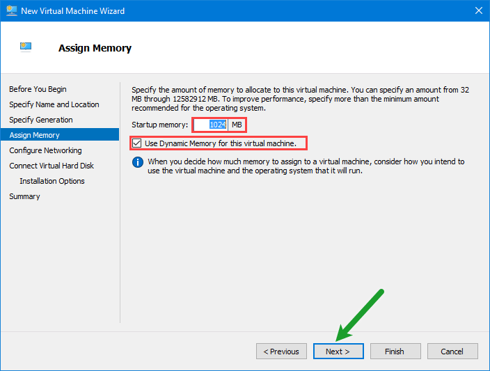 Install windows server 2016 on hyper v complete guide for Window location assign