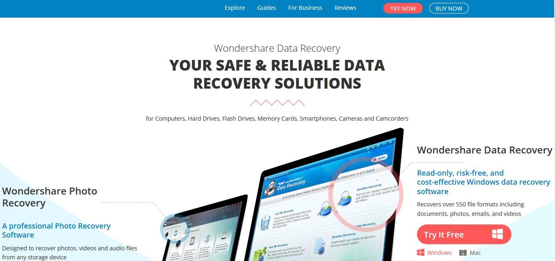 WonderShare Data-Recovery Website