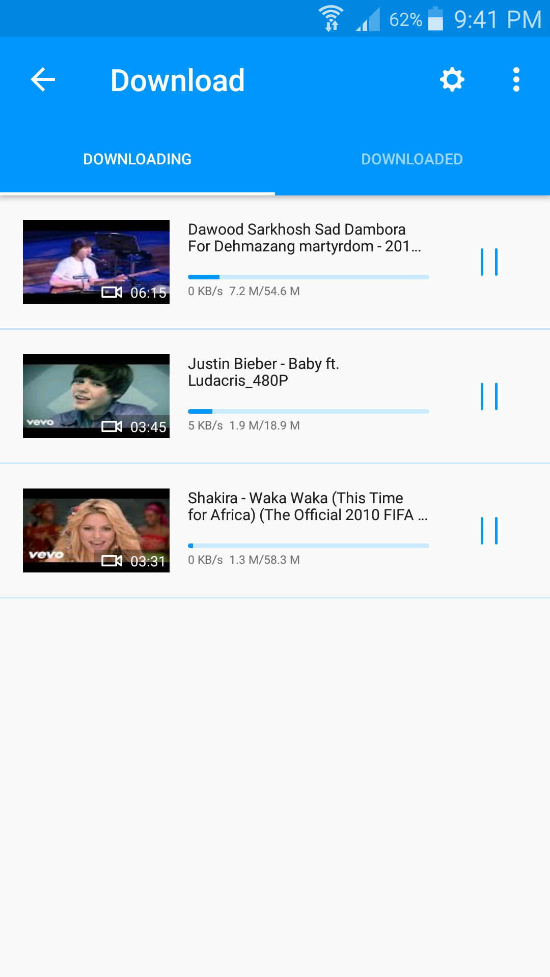 Multiple videos at one time