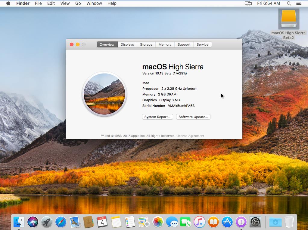 macOS High Sierra 10.13 Installed