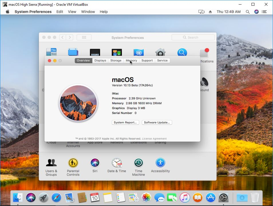 macOS High Sierra Installed